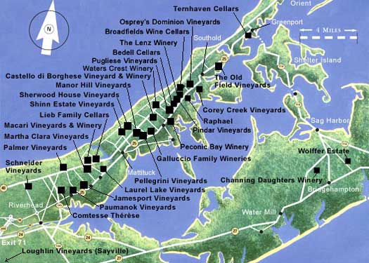 Long Island Vineyards Map Great Route 48   Exploring the Northern Route in Long Island Wine