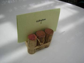 cork placecard holder
