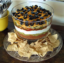 seven layer dip wine