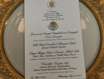 state dinner menu