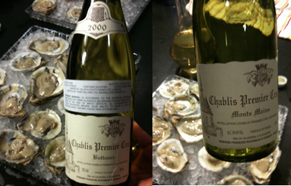 raveneau chablis oysters