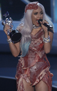meat dress lady gaga