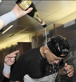 yankees champagne locker