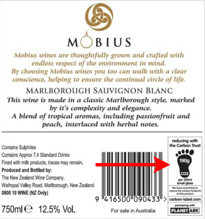 mobius wine label