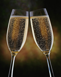 champagne toast flutes