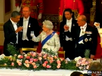 obama queen wine toast
