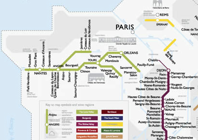 France Subway Map.France Underground A Wine Map Meets Metro Map Dr Vino S Wine Blog