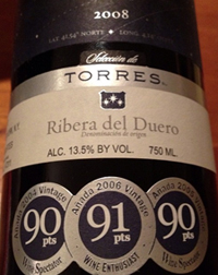 torres wine label