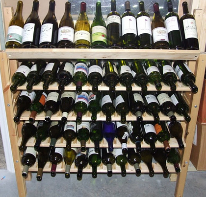 IKEA bed frame as wine rack - aged sur lit [DIY] - Dr Vino's wine blog ...