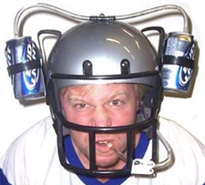 football beer helmet