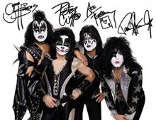kiss band autograph sm
