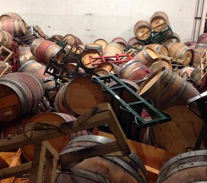 napa quake barrels